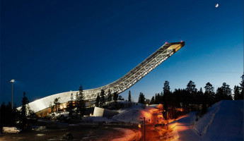AirBnB Mid-Century Ski Jump Penthouse in Norway
