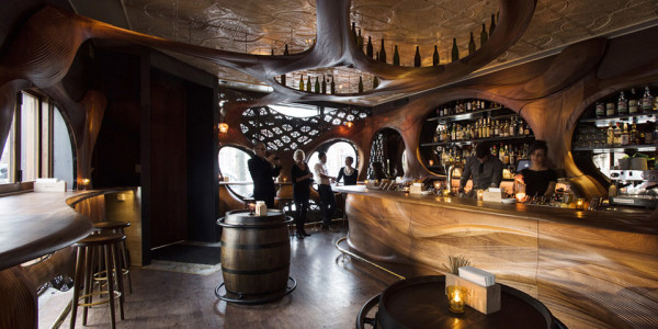 Bar Raval Toronto by Partisan Projects 5 600x300 #Woodgasm: Design Firm Creates a Wonderful Wooden World for Bar Raval Toronto