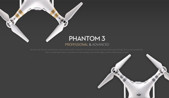 DJI Phantom 3 video drone hero