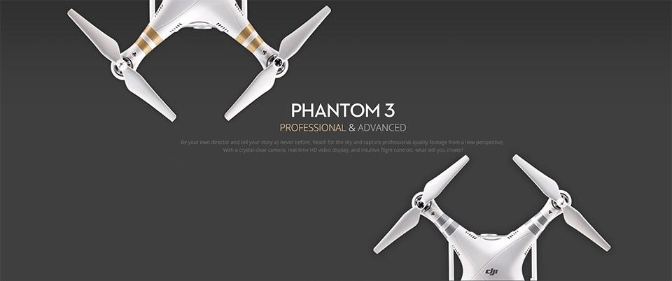 DJI Phantom 3 video drone hero