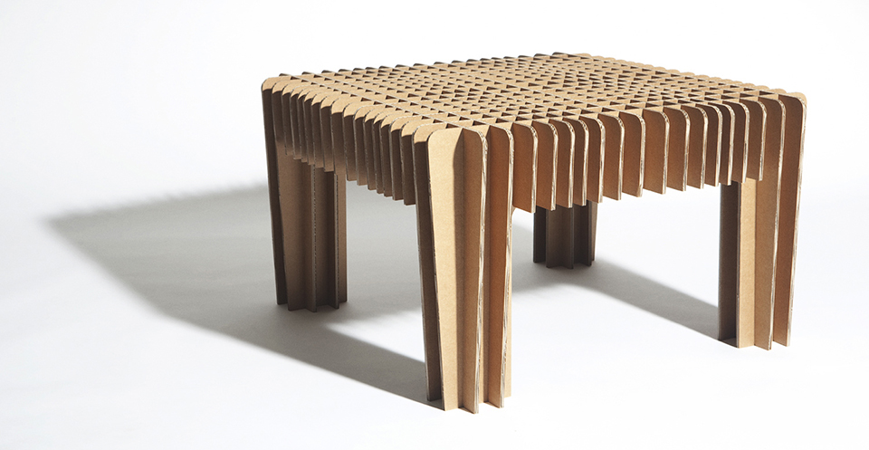 David Graas Cardboard design coffee table