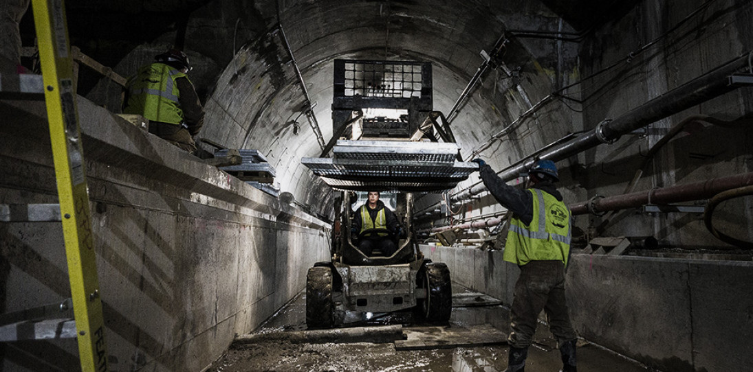 NYC Second Avenue Subway Construction Photos by MTA 11 photo by Rehema Trimiew - edited for mood