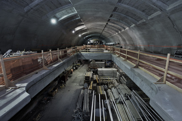NYC Second Avenue Subway Construction Photos by MTA 3 photo by Patrick Cashin -  edited for mood