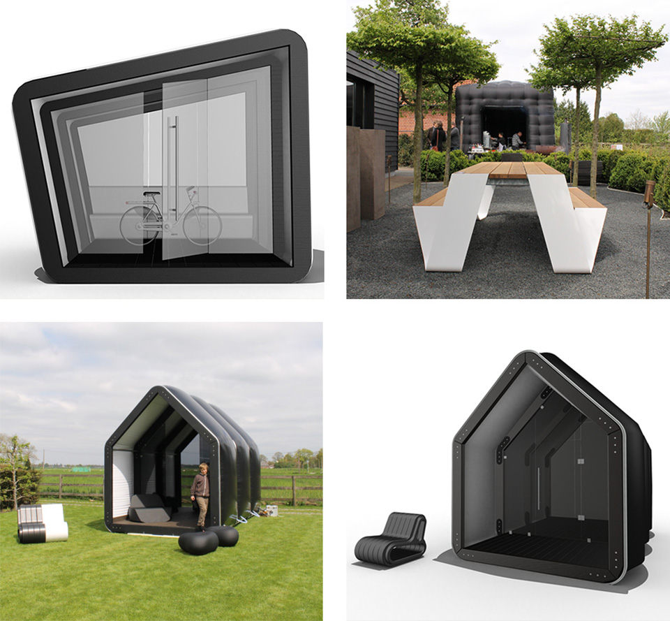 Pop Up Housing – AirClad Black House Inflatable Housing 2
