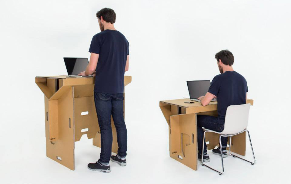 Refold Cardboard Standing Desk 2 Creative Cardboard: 10 Revolutionary Cardboard Furniture and Gadget Designs