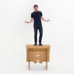 Cardboard Design: Refold Cardboard Standing Desk 2