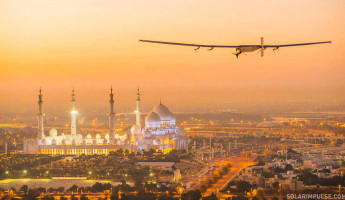 First Test Flight of Solar Impulse in Abu Dhabi, United Arab Emi