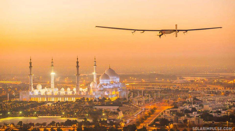 First Test Flight of Solar Impulse in Abu Dhabi, United Arab Emi