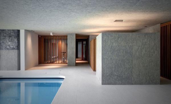 Hidden Swimming Pool Pavilion by Act Romegialli La Piscina del Roccolo 5 600x363 Italian Architect Hides a Stylish Pool House Beneath a Lush Garden