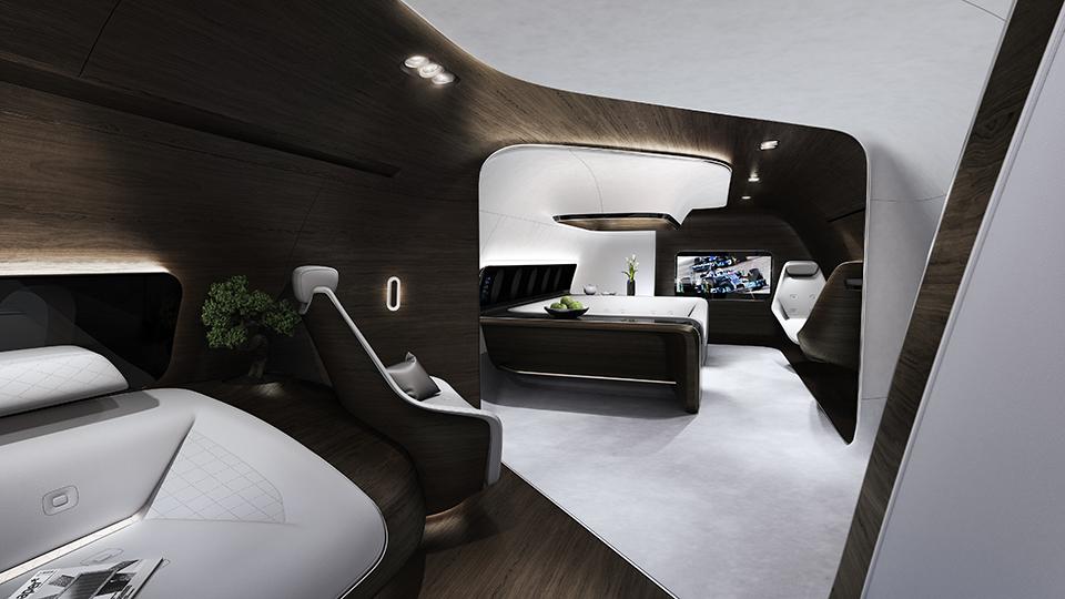 Mercedes Benz Designs Luxury Aircraft Interior for Lufthansa (1)