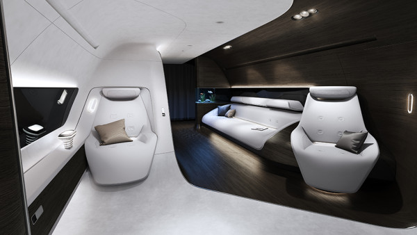 Mercedes Benz Designs Luxury Aircraft Interior for Lufthansa 3 600x338 Is Your Private Jet Not Fancy Enough? Mercedes Benz Interior Design Will Handle That.