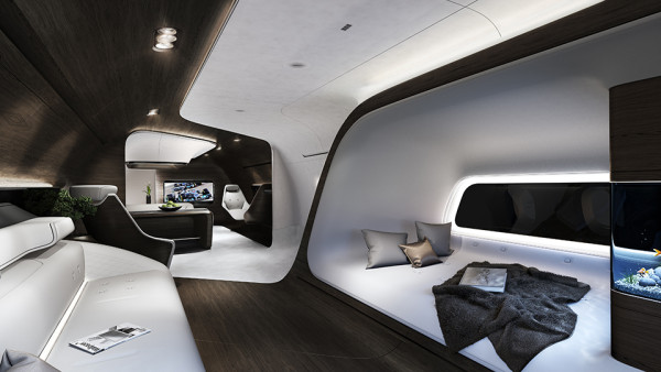 Mercedes Benz Designs Luxury Aircraft Interior for Lufthansa 4 600x338 Is Your Private Jet Not Fancy Enough? Mercedes Benz Interior Design Will Handle That.