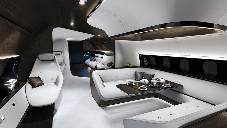 Mercedes Benz Designs Luxury Aircraft Interior for Lufthansa (5)