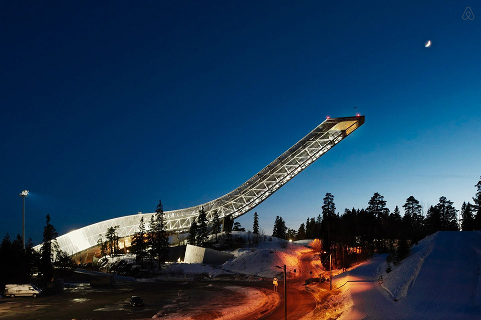 Airbnb Ski Jump Penthouse 1 VIDEO: The 10 Most Unique Hotels in Unexpected Places
