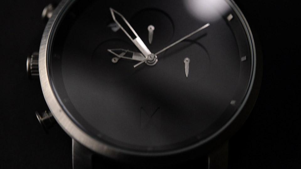 MVMT Chrono Watch Black and Silver 2