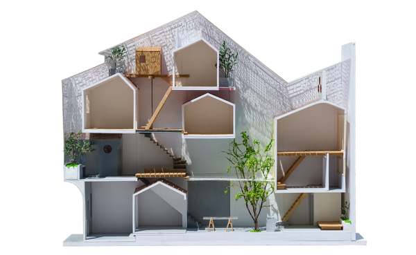 Saigon House by a21studio 15 600x369 A Stacked Cascade of Tiny Houses Turns This Alley into an Architectural Masterwork
