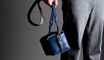Hard Graft Box Camera Bag in Ocean Blue and Gray Wool Felt 11