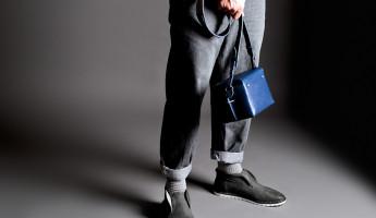 Hard Graft Box Camera Bag in Ocean Blue and Gray Wool Felt 7
