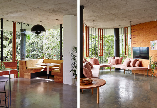Planchonella House by Jesse Bennett 10 600x414 This Retro Rainforest Dream House is a Mid Century Style Masterpiece