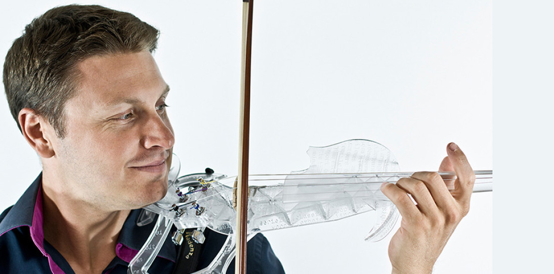 3Dvarius 3D Printed Violin Electric Violin 1