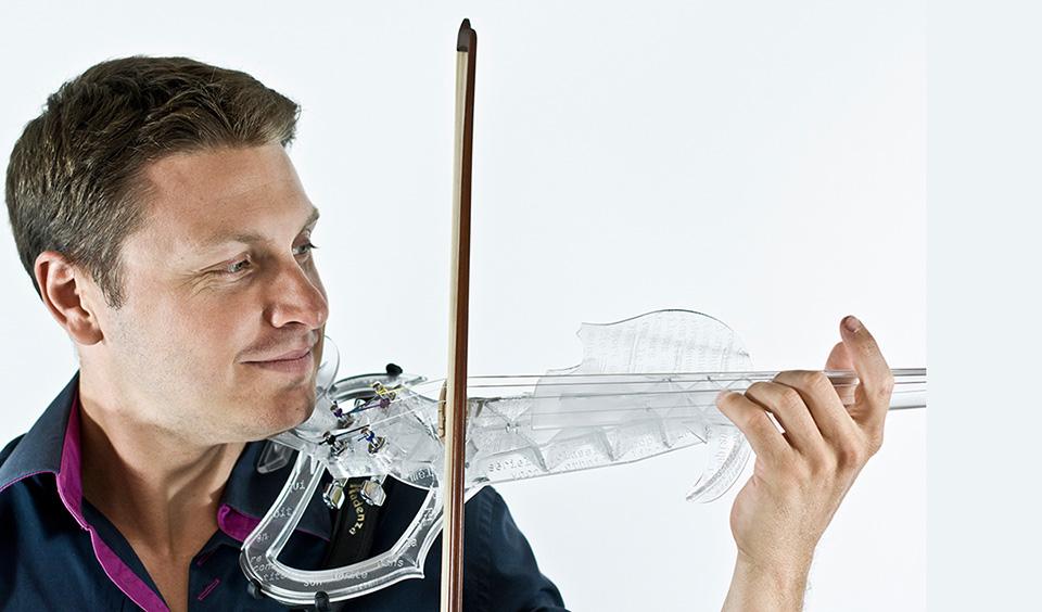 3Dvarius 3D Printed Violin Electric Violin 1