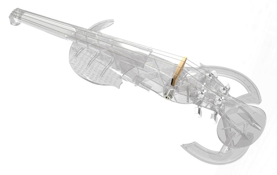 3Dvarius 3D Printed Violin Electric Violin 5