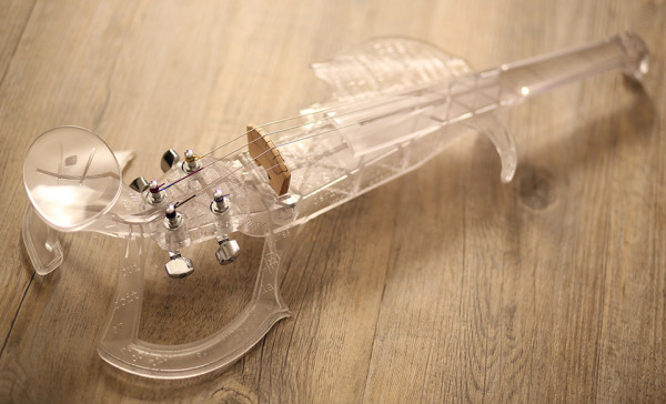 3Dvarius 3D Printed Violin Electric Violin 6 600x364 3Dvarius Creates the Worlds First 3D Printed Violin from Stradivarius Scans