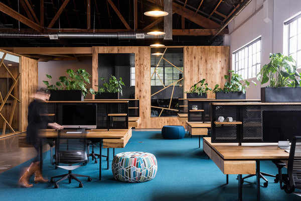BeFunky Office Design by Fieldwork Design and Architecture Photography by Brian Walker Lee 1 600x400 Wed Spend Our Nights and Weekends in this Wooden Wonder of Office Design