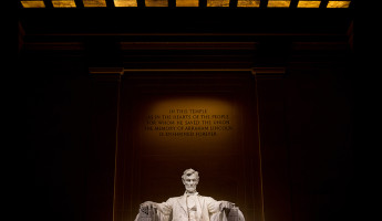 Lincoln Memorial at Night by Seamus Payne