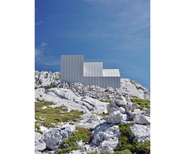 Alpine Shelter Skuta by OFIS arhitekti and AKT II and Harvard GSD Students 6 600x500 This Hidden Architectural Gem is Designed to Be Discovered by Alpine Climbers
