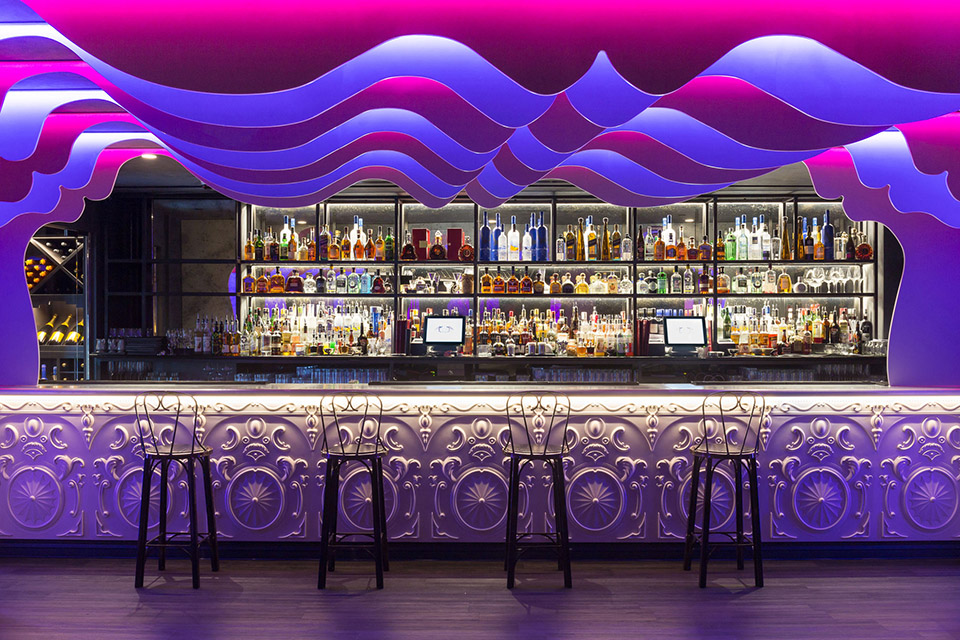 Le Peep Boutique, nightclub interior, Mayfair, London. Architect