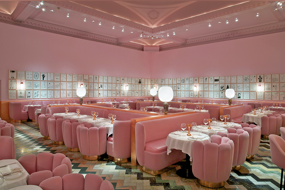The Gallery at Sketch London India Mahdavi Image Courtesy of The Restaurant and Bar Design Awards Feast Your Eyes on 20 of the Worlds Best Restaurant Designs of 2015