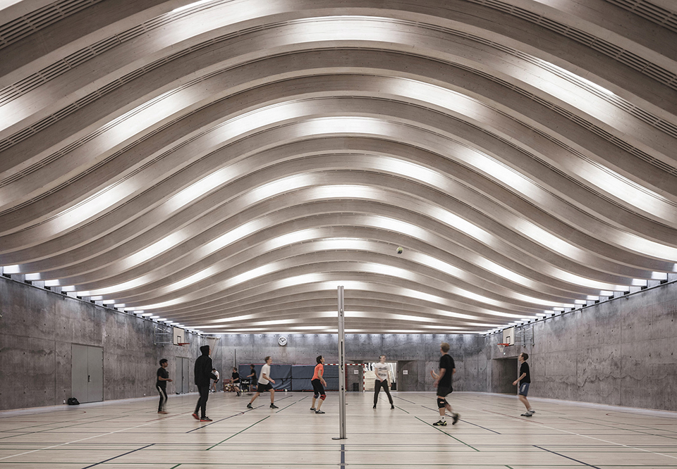 sports facility design – Sports and Arts Expansion by Bjarke Ingels Group – Photo by Rasmus Hjortshoj