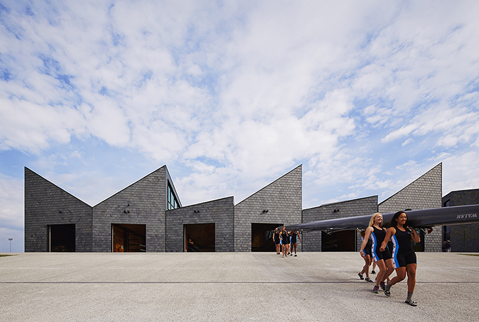 sports facility design – WMS Boathouse by Studio Gang – Photography by Steve Hall Hedrich Blessing 1