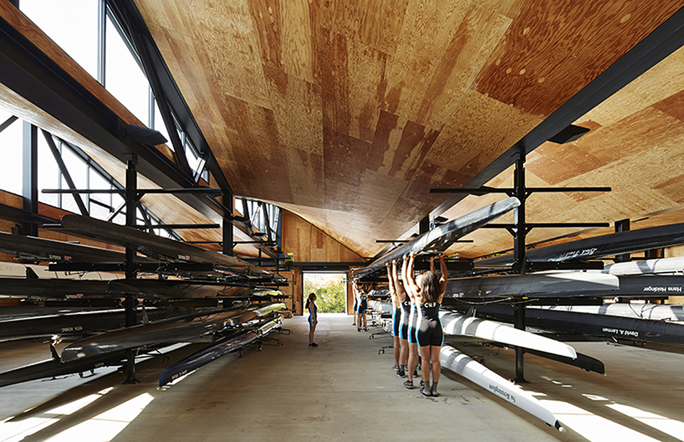 sports facility design – WMS Boathouse by Studio Gang – Photography by Steve Hall Hedrich Blessing 3