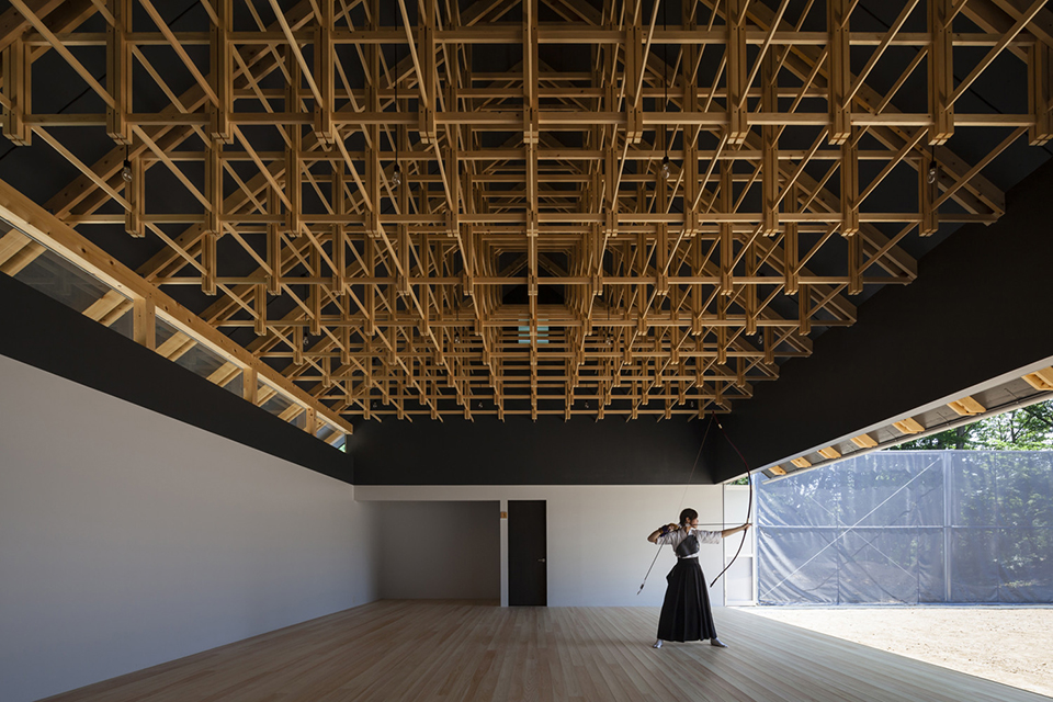 sports facility design - timber structure archery hall and boxing club 1