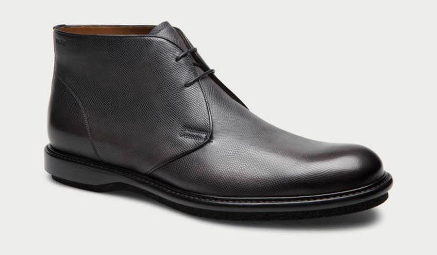 Bally – Strauss Men Leather Desert Boot In Black