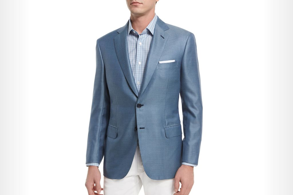 Brioni - Tic Two-Button Silk-Blend Blazer, Light Blue