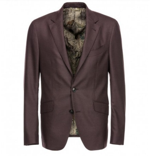 Etro Brown Two-Button Blazer