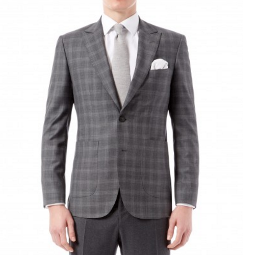 Grey Prince of Wales Check Jacket Brinsley Fit