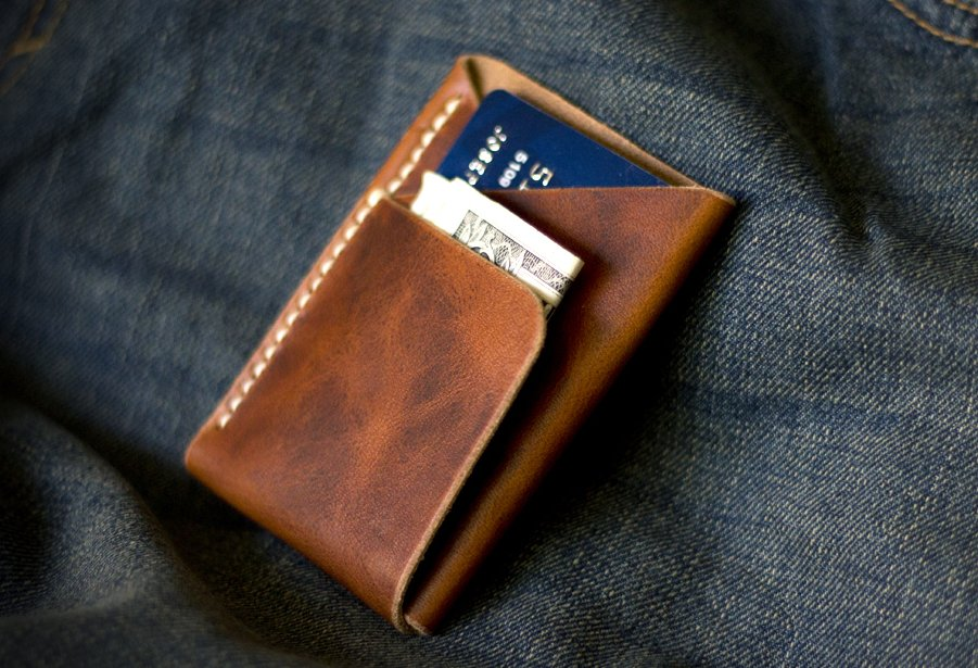 Inkleaf Leather Doublecross - minimalist wallet