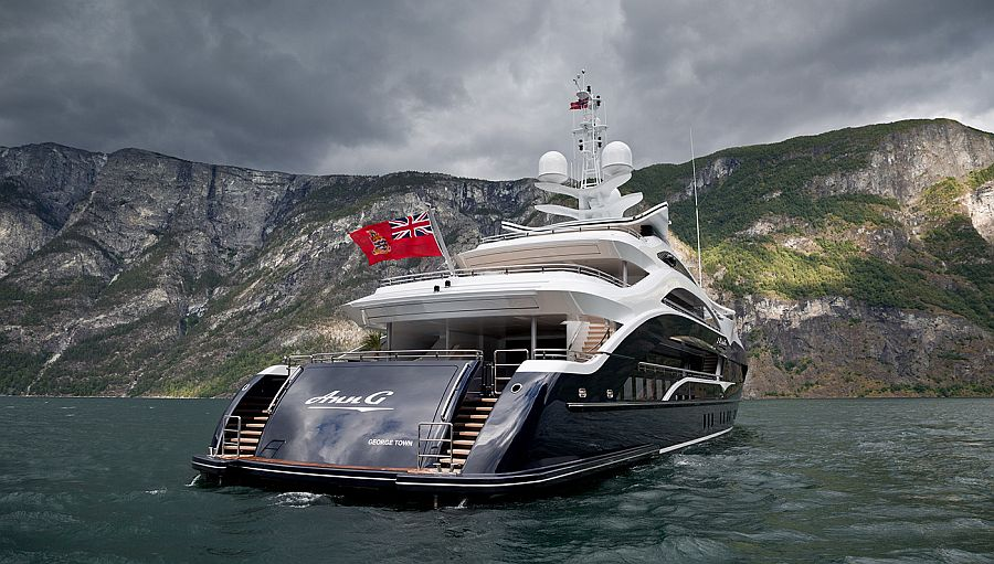 Luxury superyacht Ann G cruises at a top speed of 15.6 knots