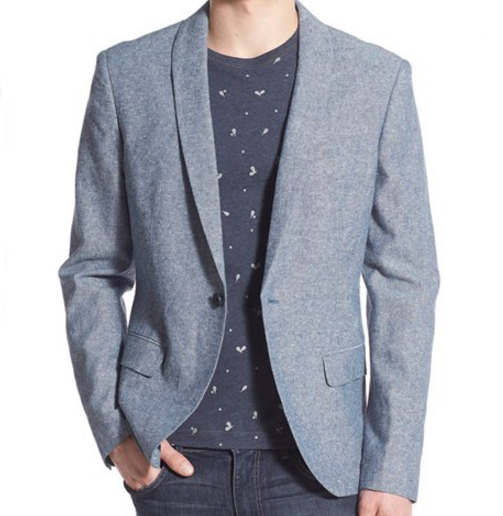 Original Penguin Chambray Shawl Blazer