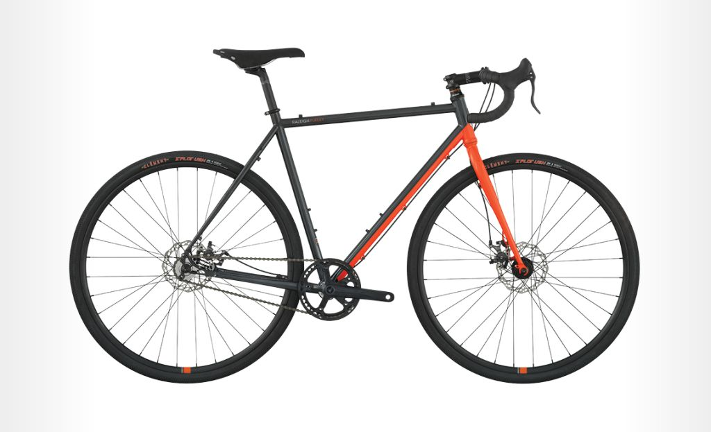 Raleigh Furley bike - orange silver