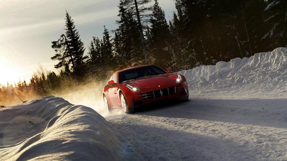 Red Ferrari FF wagon