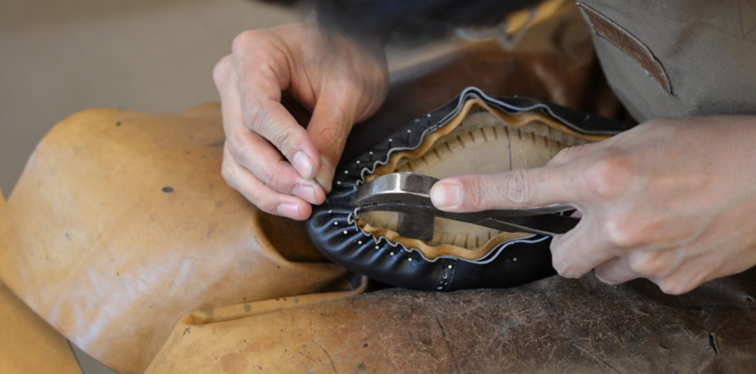 Japanese Shoemaker Hiro Yanagimachi building a welt