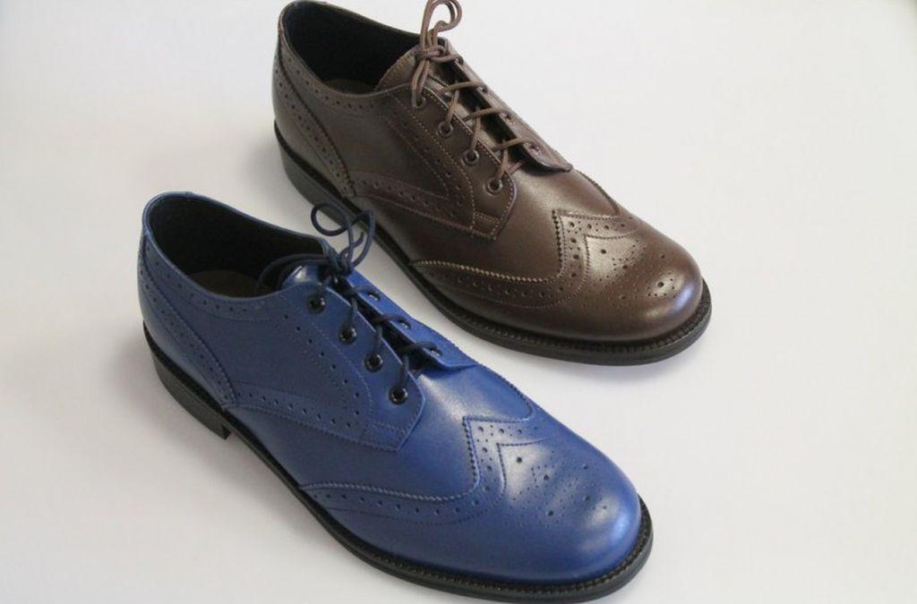 Buchanan Brogues – Petrol Blue or Chocolate Brown – Calf Leather Brogues