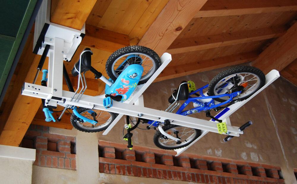 Flat-Bike-Lift Ceiling Bike Rack