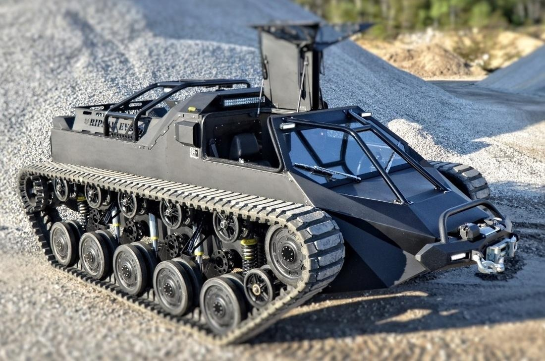 Howe and Howe Tech Ripsaw EV2 – survival vehicle