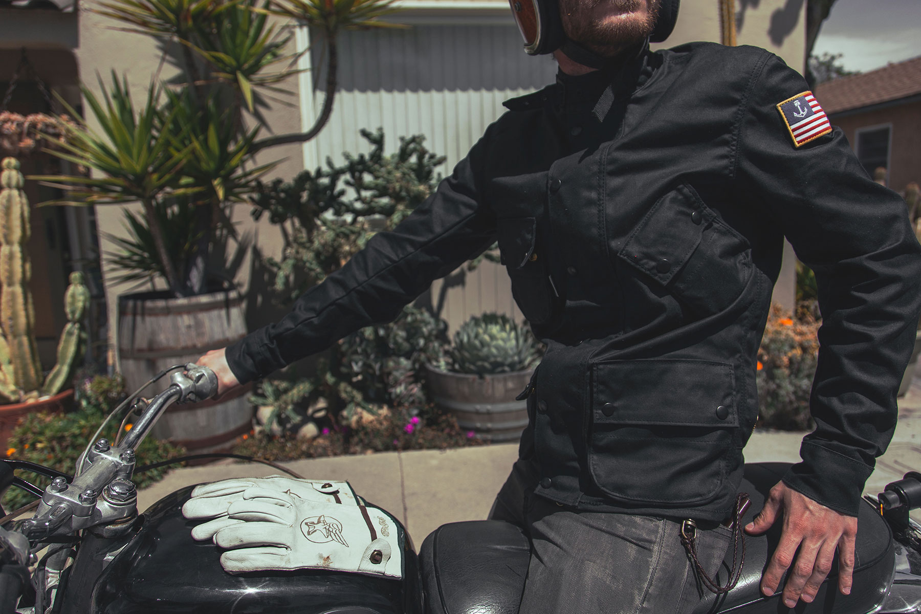 Iron & Resin X Vanson Leathers Mojave – waxed canvas jacket